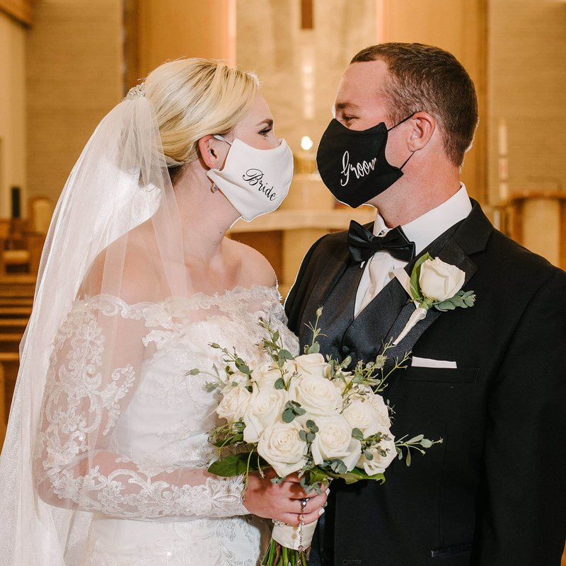 pandemic masks for wedding